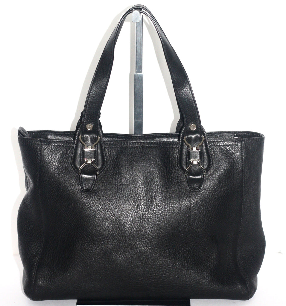 Cole Haan Large Black Leather Shoulder Tote Bag