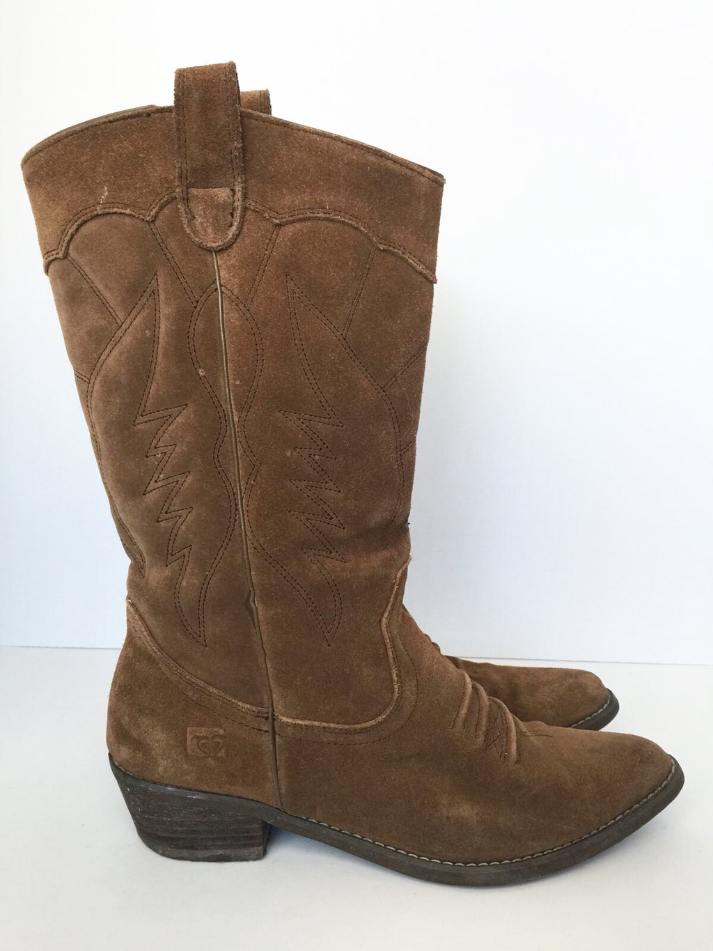 Roxy Brown Giddy-Up Cowboy Boots Size 9
