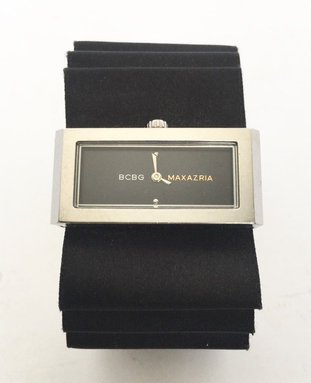 BCBG Black Satin Bow Watch