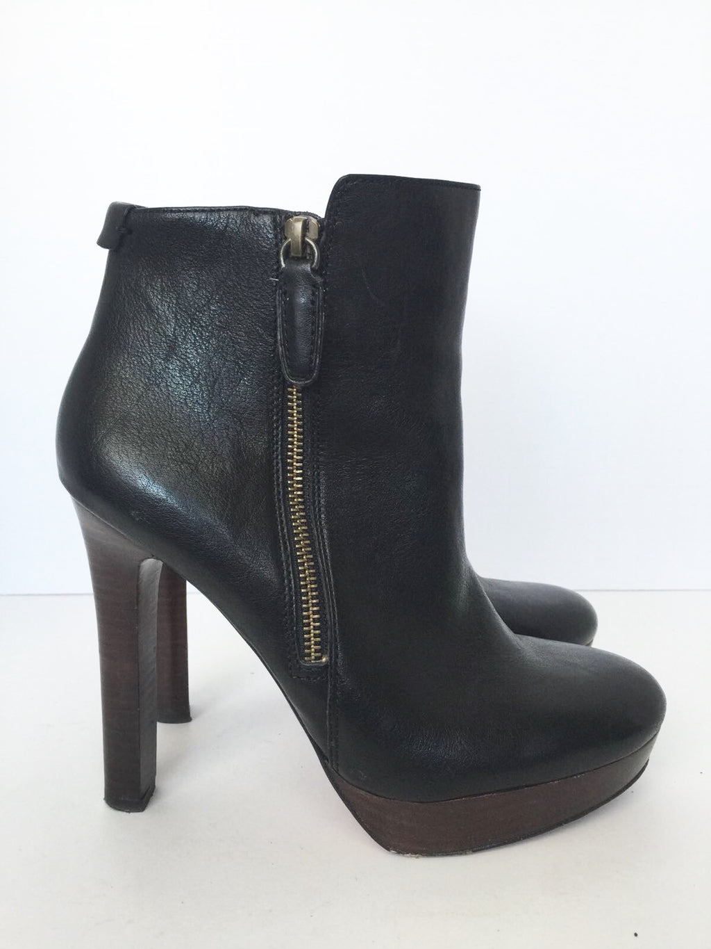 Coach Chryssa Black Platform Booties Size 8.5