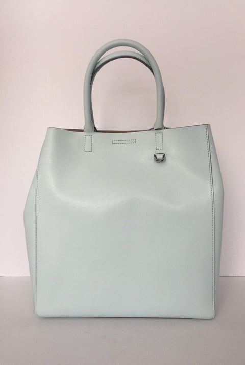 Brand New Banana Republic Large Mint Green Leather Tote