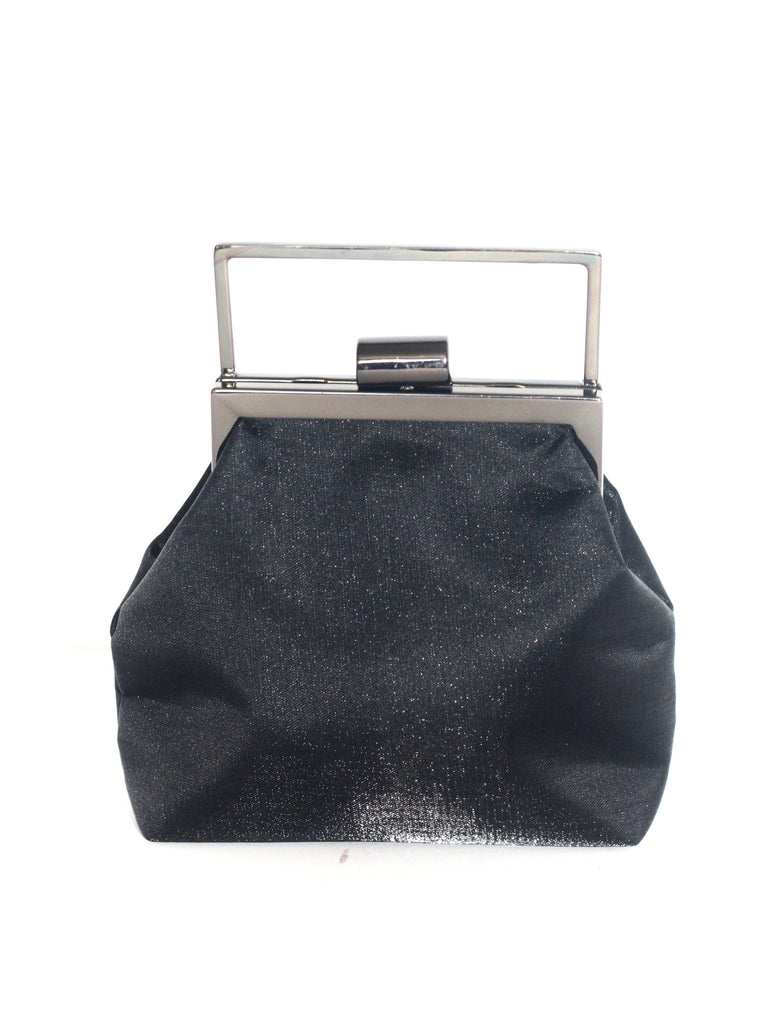 Nine West Black Satin Mini Clutch - Joyce's Closet  - 1