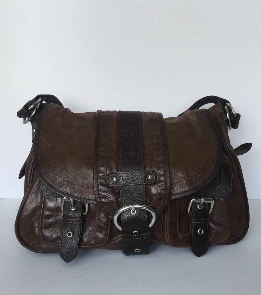 Barney's New York Brown Leather Satchel