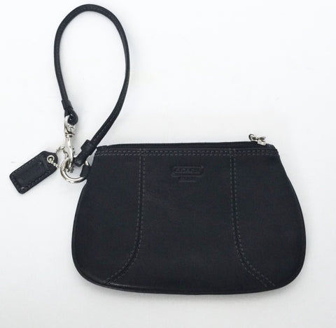 Coach Black Leather Wristlet