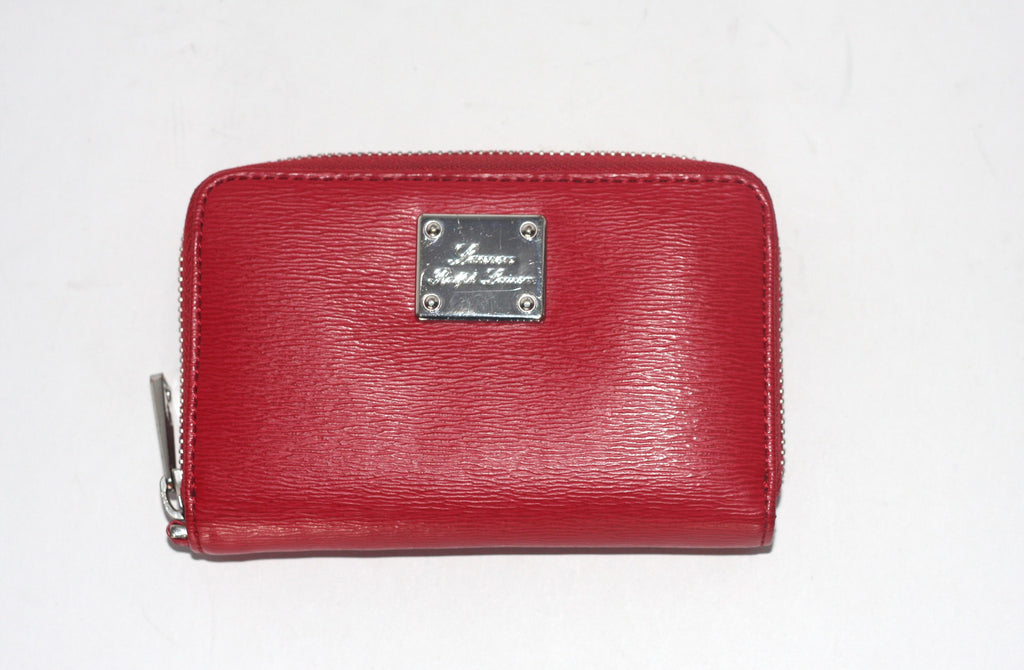 Brand New Lauren by Ralph Lauren Red Epi Mini Wallet - Joyce's Closet  - 1
