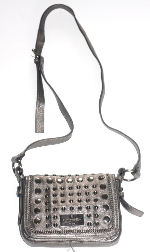 BCBG Max Azria Metallic Grey Mini Studded Cross Body Bag - Joyce's Closet  - 1