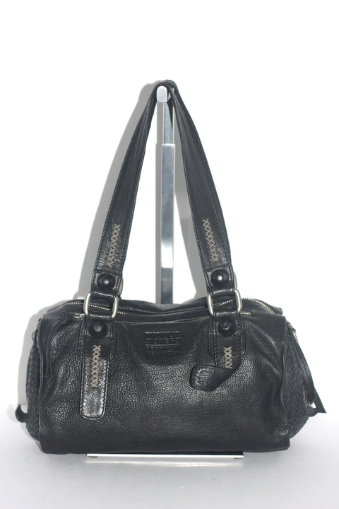 Tyoulip Sisters Black Leather Satchel - Joyce's Closet  - 1