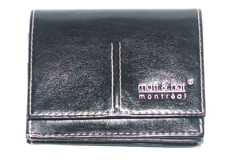 Matt & Nat Vegan Leather Black Mini Wallet - Joyce's Closet  - 1