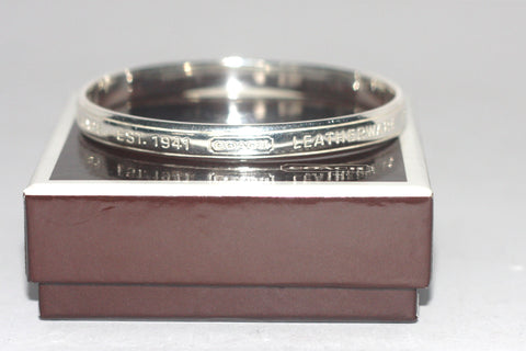 Brand New Coach Leatherware 1941 Sterling Silver Bangle Bracelet - Joyce's Closet  - 1
