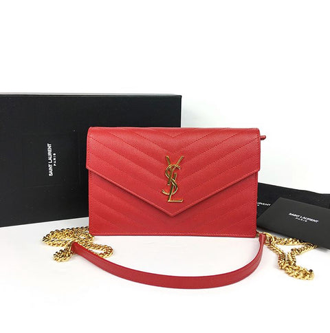Yves Saint Laurent Red WOC Crossbody Bag