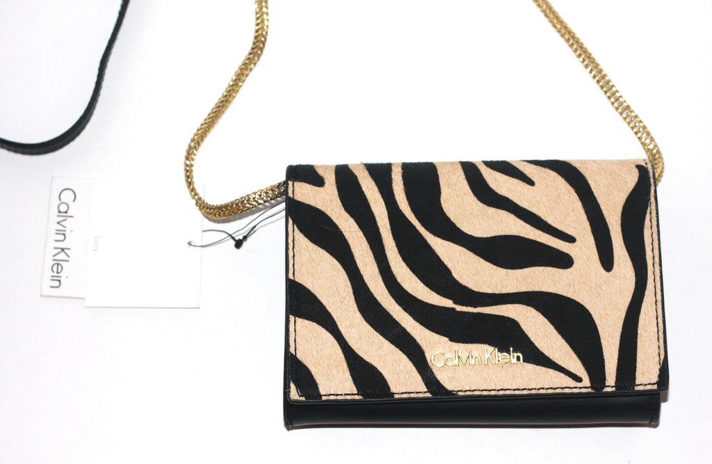 Brand New Calvin Klein Lucy Zebra Print Mini Chain Bag - Joyce's Closet  - 1