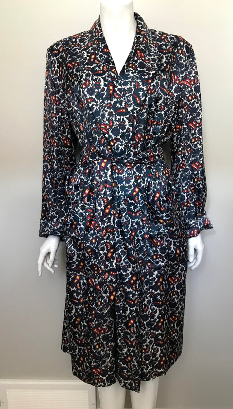 Vintage Lounge-Ease by Manhattan of Montreal Multi-Colored Trench Coat  Size L
