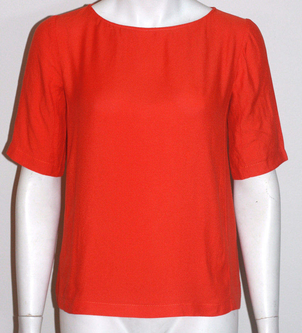 Club Monaco Madison Orange Short Sleeve Blouse - Joyce's Closet  - 1