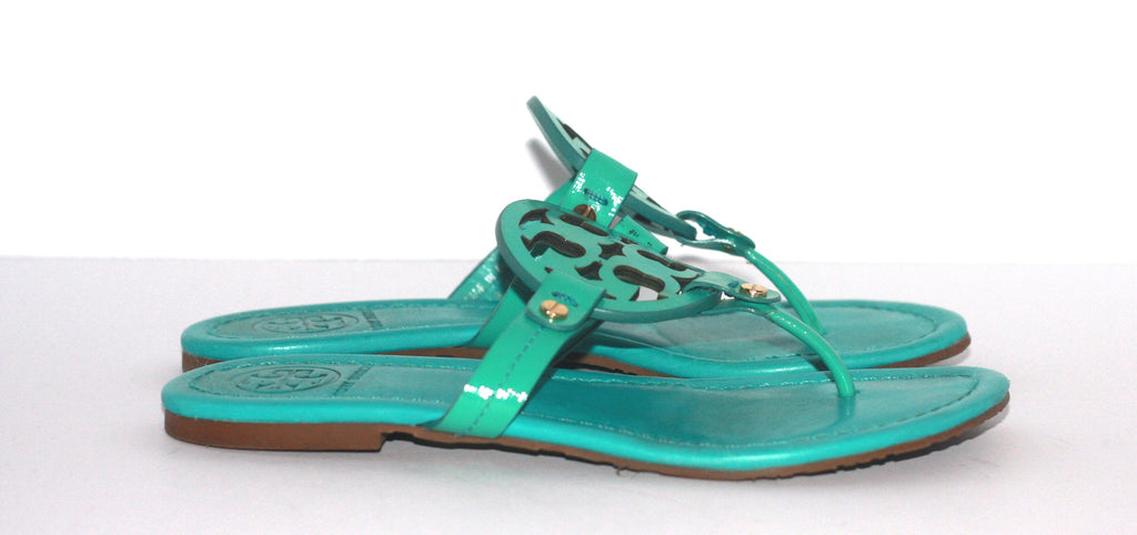 e831476e492 Tory Burch Green Patent Leather Miller Sandals - Joyce s Closet - 1. Images    1   2   3   4 ...