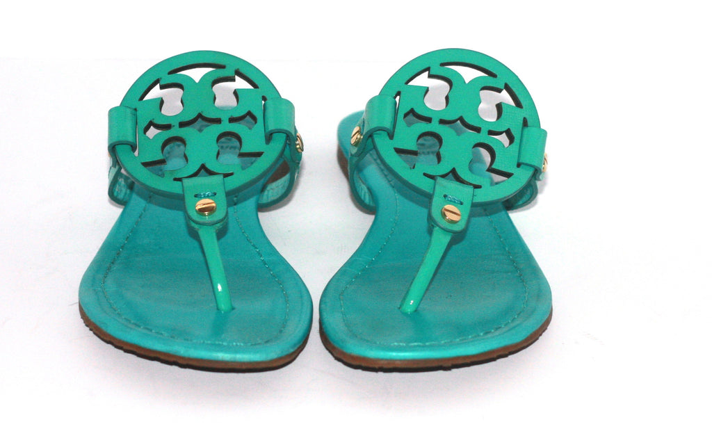 3371d37bb45 Tory Burch Green Patent Leather Miller Sandals - Joyce s Closet - 1. Images    1   2   3 ...