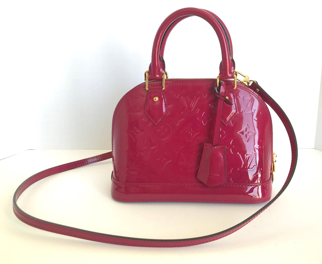 "Louis Vuitton Vernis"" Indian Rose"" Alma BB Handbag"