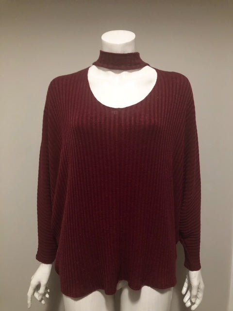 b2b76857fb77f Urban Outfitters Maroon Mock Neck Sweater Blouse Size XS. Images   1   2   3