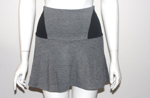 Wilfred Two Tone Grey & Black Mini Skirt - Joyce's Closet  - 1