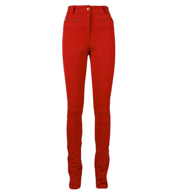 Brand New Pink Tartan Red High Waist Skinny Pants - Joyce's Closet  - 1