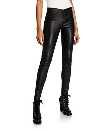 Bench Black Faux Leather Tights Size S