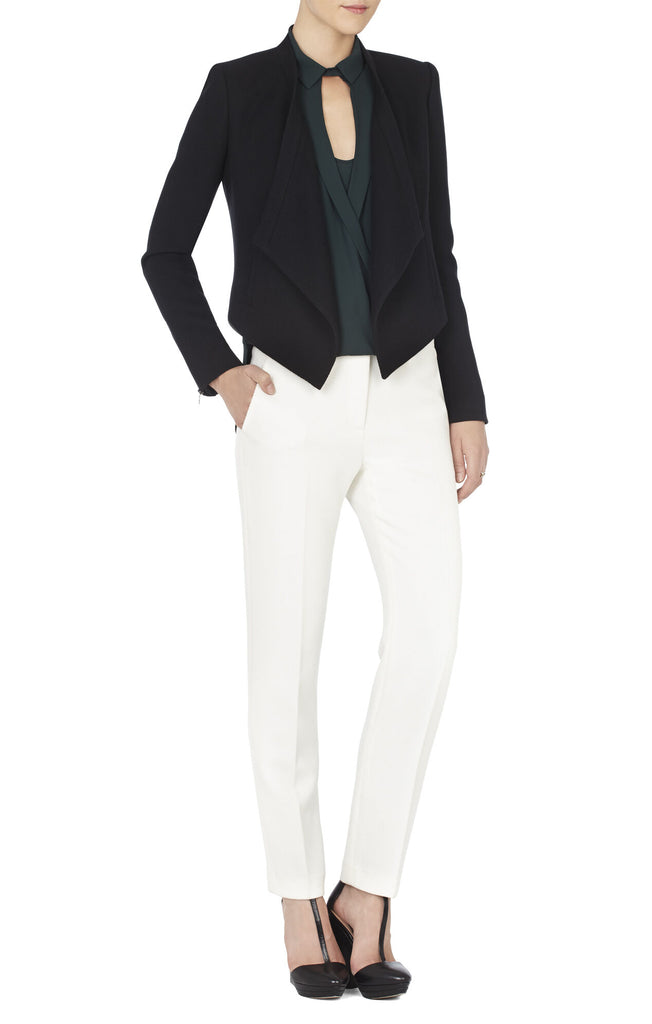 "BCBG Black "" Abbey"" Relaxed Fit Blazer Size XXS"