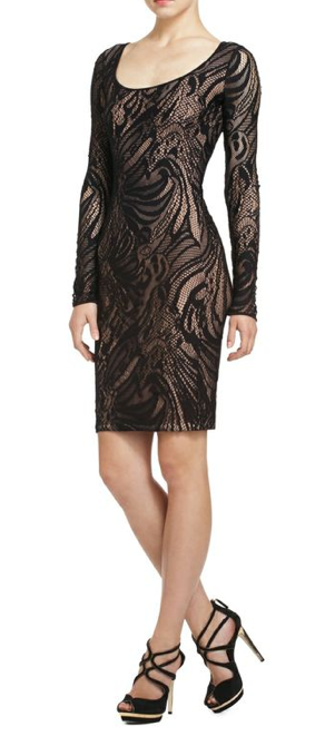 "BCBG Max Azria "" Tanya"" Bodycon Lace Print Dress - Joyce's Closet  - 1"