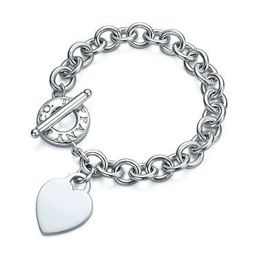 Tiffany & Co Toggle Heart Sterling Silver Heart Tag Bracelet - Joyce's Closet  - 1
