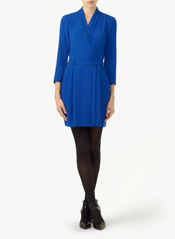Babaton Cobalt Blue Franca Wrap Dress - Joyce's Closet  - 1