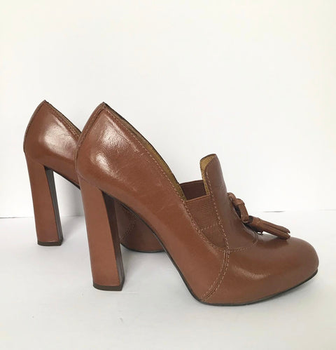 Nine West Platform Brown Heels Size 6M