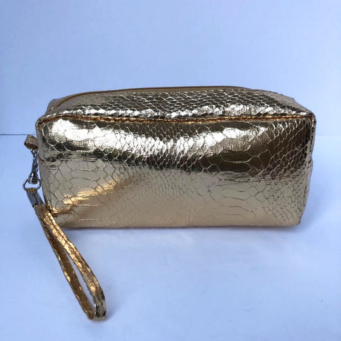 Gold Cosmetic Pouch