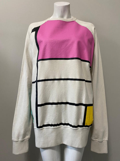 You Must Create Multi-Color Crew-Neck Sweater Size XL