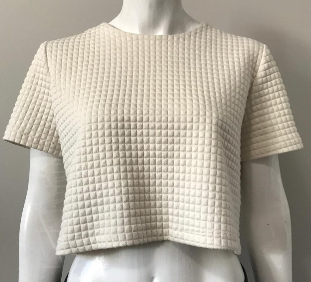 Miss Patina Cream Crop Top Size S/M