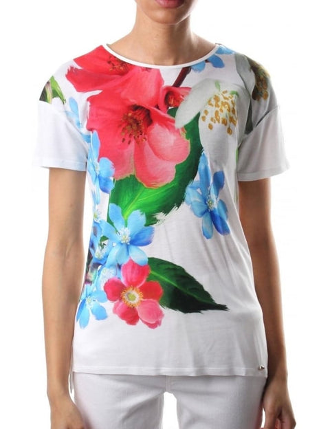 Ted Baker Multi-Color Floral T-Shirt Size 4 US S