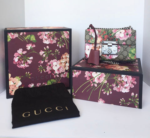Brand New Gucci Blooms Small Padlock Bag