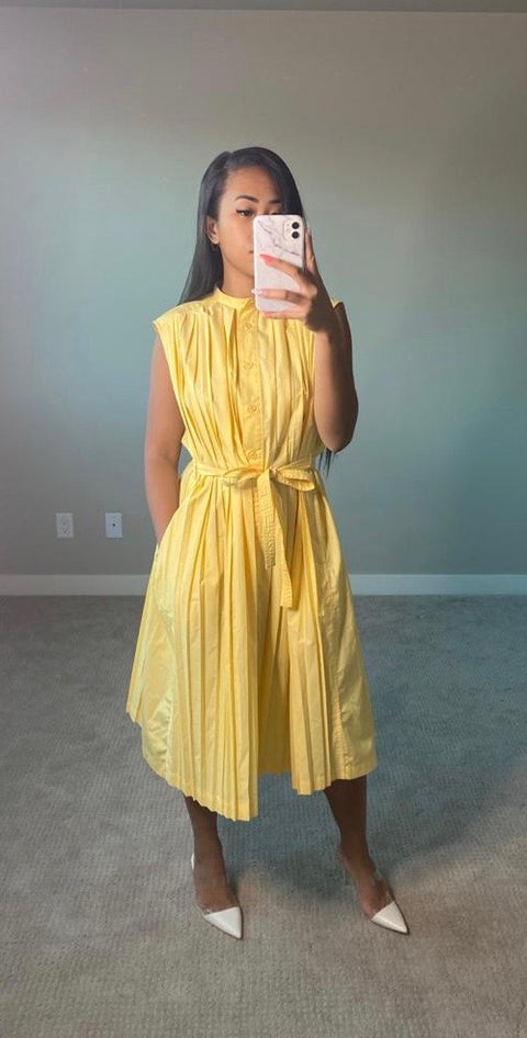 Uniqlo Yellow Button Up Dress Size XS