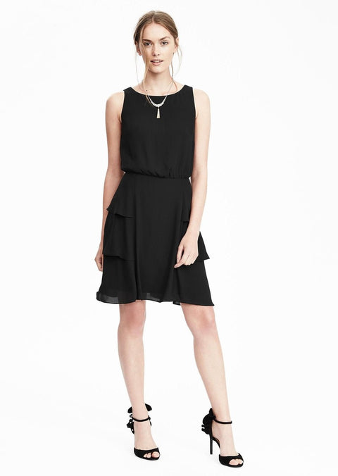 Banana Republic Black Shift Dress Size 6