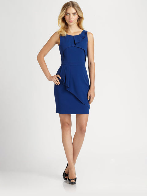 BCBG Max Azria Siri Royal Blue Sleeveless Dress - Joyce's Closet  - 1