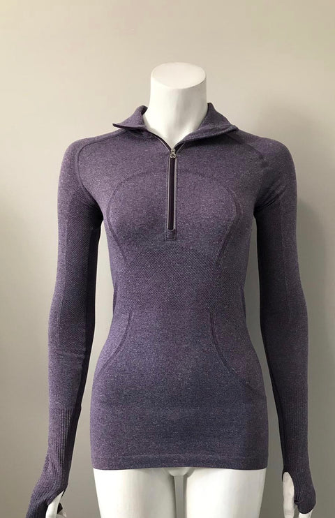 Lululemon Lilac Exercise Pull-Over Sweater Size 4