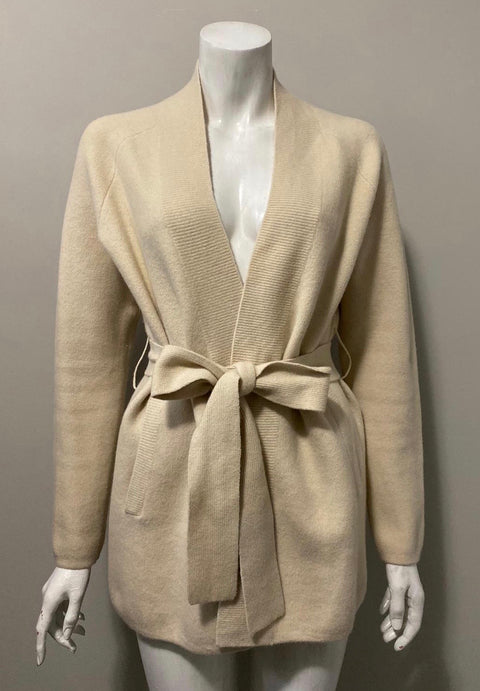 Babaton Cream belted Wool Sweater Size S