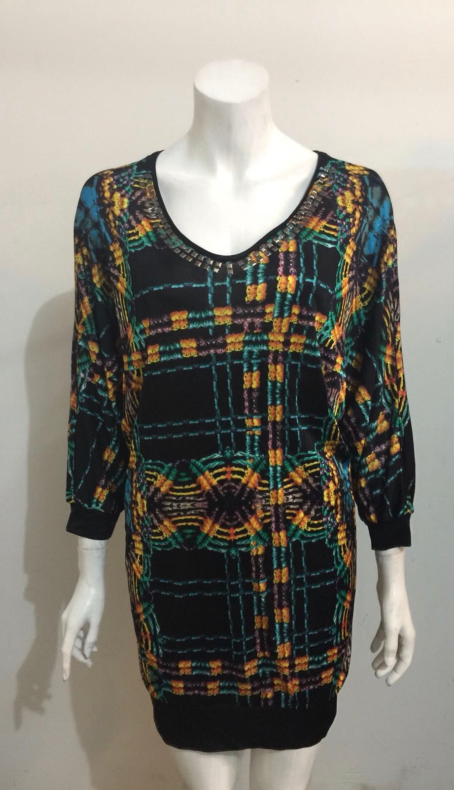 Custo Line Multi-Color Tunic Dress Size S