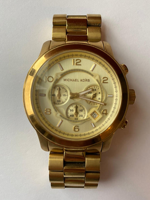 Michael Kors Oversized Gold Unisex Watch Style 8077