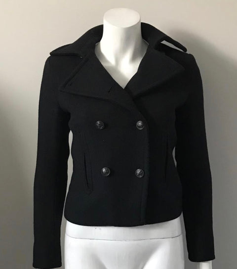 Denim & Supply Ralph Lauren Crop Black Wool Jacket Size XS