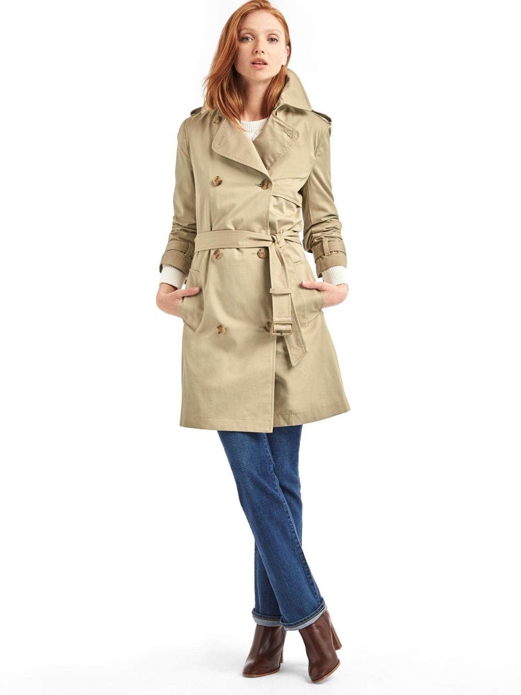 Gap Beige Trench Coat Size S