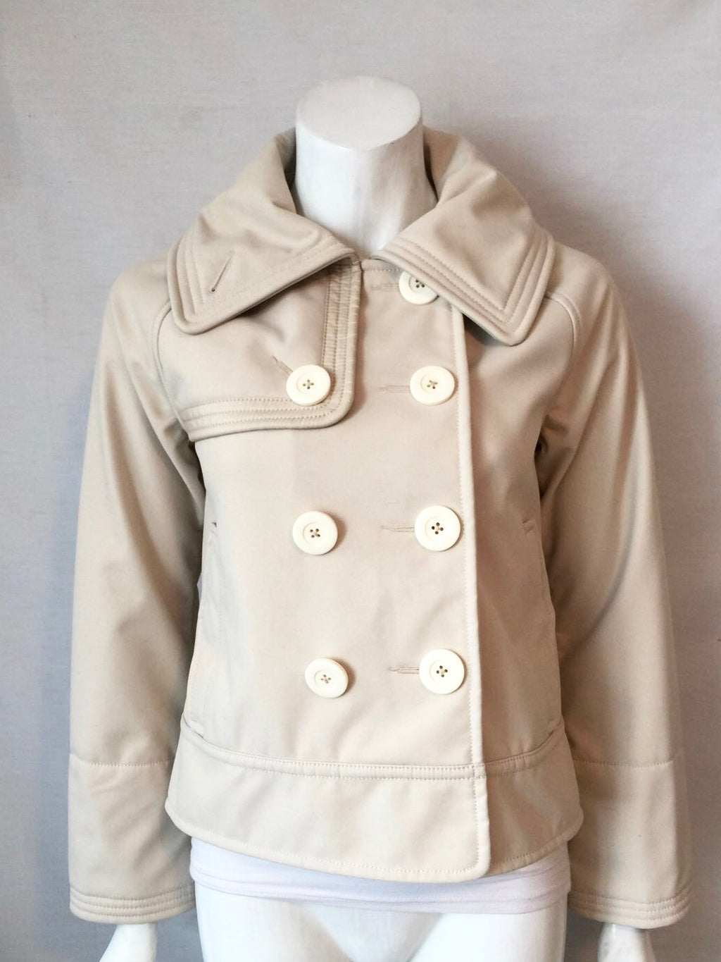 Lululemon Cream Coco Soft Shell Peacoat Jacket Size 6