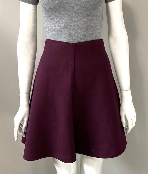 Mercer Madison Plum Skater Skirt Size 8