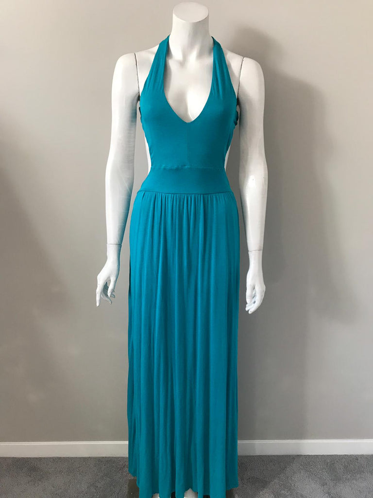 Bebe Torquiose Maxi Dress Size L