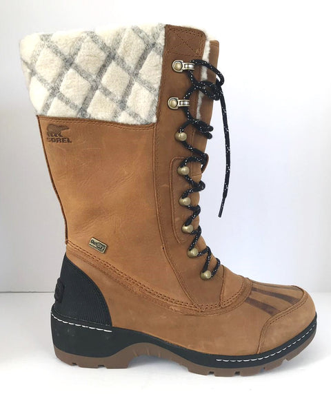 Sorel Women's Whistler Camel Brown/Black Tall Winter Boots Size 9