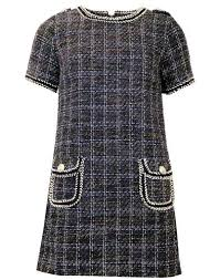 Darling London Elsa Retro Vintage Tweed Tunic Dress Size 14