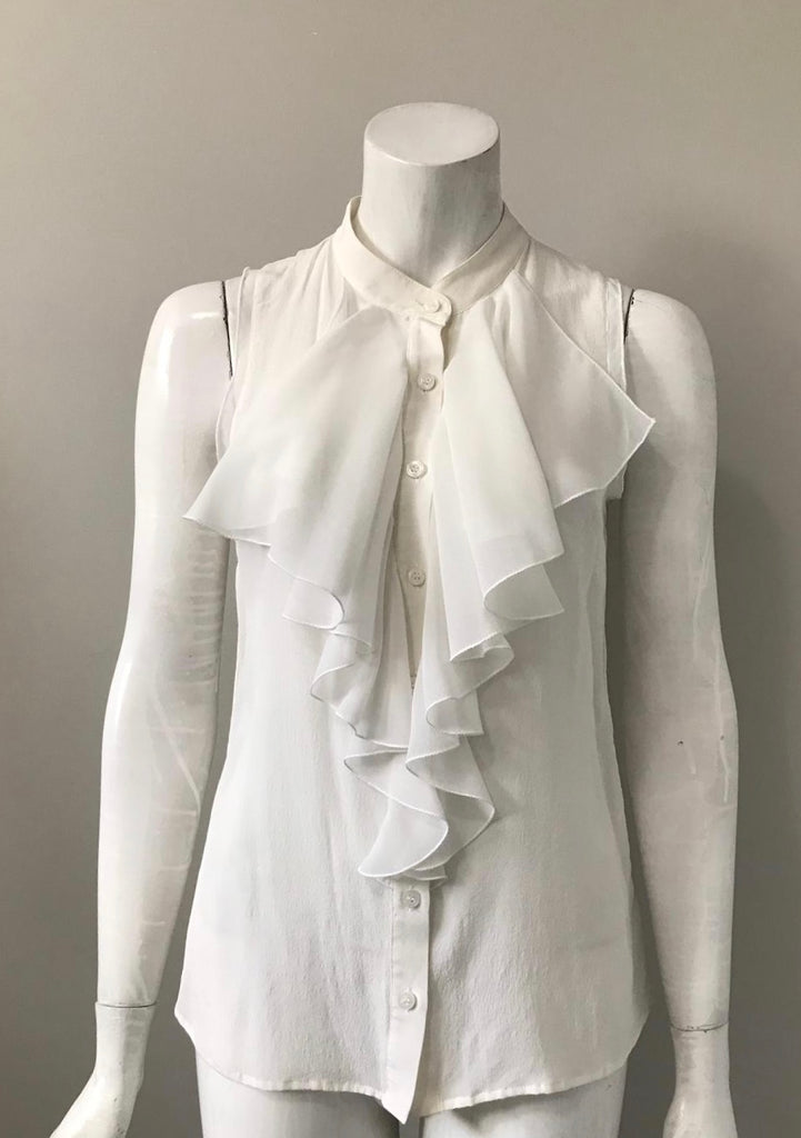 Guess By Marciano Cream Silk Blouse Size S