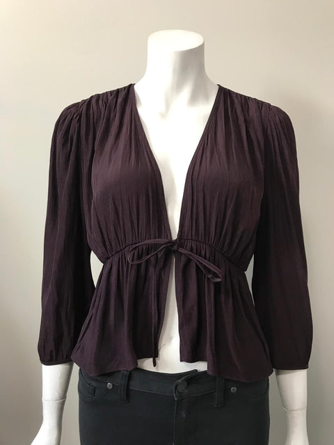 Wilfred Dark Purple Blouse Size M